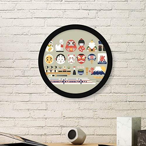 DIYthinker lokale Japanse goed bekende spullen ronde fotolijst kunst afdrukken van schilderijen thuis muursticker cadeau