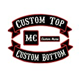 Custom Patch Vest Biker Motorcycle Rocker Name Patches Full Sets Large Biker Motorcycle Patches …