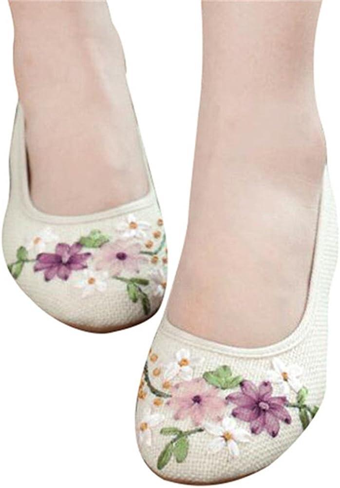Minetom Damen Maedchen Sommer Flower Runde Zehe Flache Flach Freizeit Schuhe Mokassins M/ädchen Schule Ballerinas Bootsschuhe