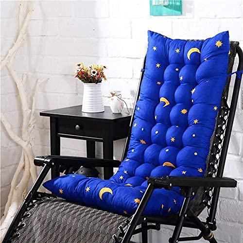 Almohadillas de cojín para tumbona, para viajes, vacaciones, para silla, de repuesto para silla mecedora de jardín, de tatami, con lazos, 40 x 125 – 2 unidades