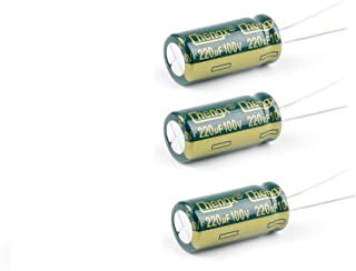 20/% Capacitance Tolerance Radial Lead 220/Μf Capacitance NTE Electronics NEV220M100FF Series Nev Aluminum Electrolytic Capacitor 100V