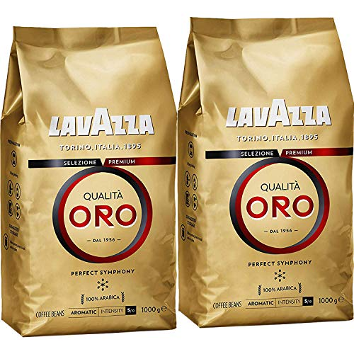 Lavazza Qualita Oro Coffee Beans 1Kg (Pack of 2)