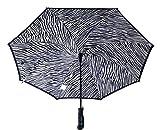 BETTER BRELLA Wind-Proof, Reverse Open, Upside Down 41.5' wide Umbrella (Black Zebra)