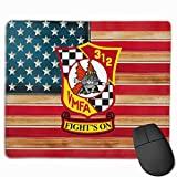 VMFA-312 Checkerboards Mouse Pads Pack with Non-Slip Rubber Base Mouse Pad for Computers, Laptop, Office & Home