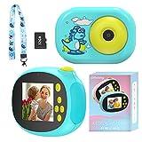 Ukuu Camara Digital para Niños con Tarjeta de Memoria Micro SD 32GB 1080P HD Selfie Video Cámara para Niños y Niñas de 3 a 12 Años Funda de Silicona, 2 Pulgadas Pantalla, Regalos Juguete - Azul
