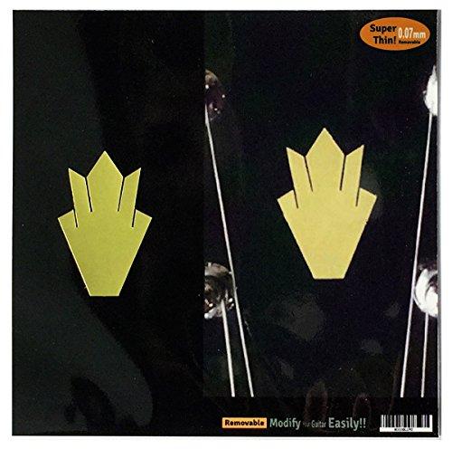 Inlay Aufkleber für Gitarren-Kopfplatte in Gold, 2 Stück