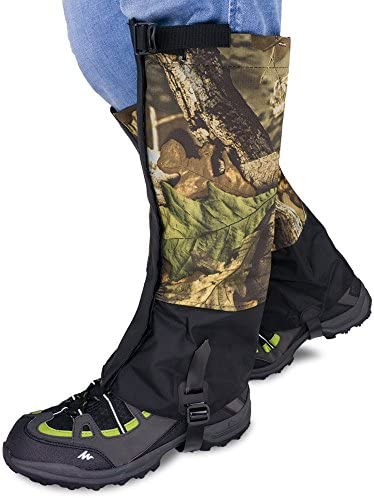 Qshare Leg Gaiters for Boots Waterproof Hiking Climbing Hunting Snow High Leg Gaiters Men and product image