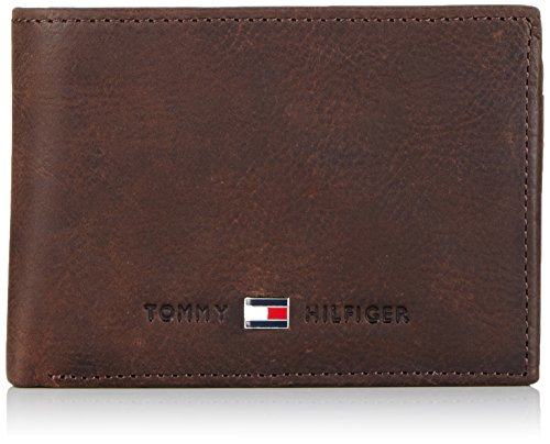 Tommy Hilfiger Herren JOHNSON MINI CC FLAP & COIN POCKET Geldbörsen, Braun (BROWN 204), 11x9x2 cm