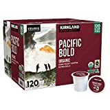 Kirkland Signature Organic Pacific Bold Dark-Roast Coffee, 120 K-Cup Pods