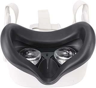 VR Face Mask Pad for Oculus Quest 2 accessories, sweat-proof and hygienic silicone eye mask face cover (black)