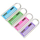 hkwshop Calculadora Sobremesa de Oficina Mini calculadora con Regla multifunción Solar, calculadoras de calculadoras de la Escuela Secundaria Calculadora de Escritorio (Color : 1pcs Random Color)