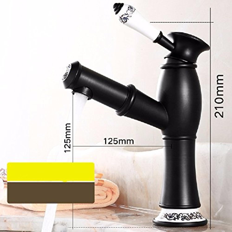 HQLCX europischen stil schwarz zieht wasserhahn, warme und kalte becken wasserhahn, bad antiker wasserhahn,ein