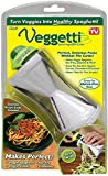 5. Ontel Veggetti Spiral Vegetable Cutter, Makes Veggie Pasta