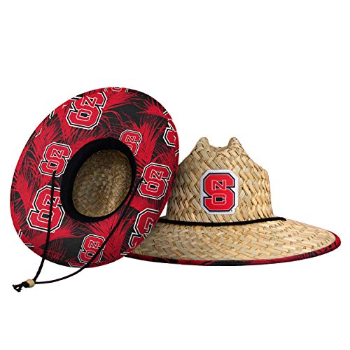 NC State Wolfpack NCAA Floral Straw Hat