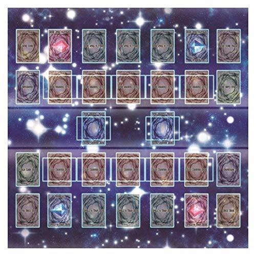 Rioge Gummi Spielmatte 60x60cm Galaxy Style Competition Pad Spielmatte Für Yu-gi-oh Karte, Yugioh Zubehör Kartenspiel Pad