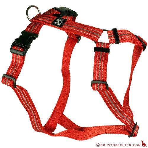 Feltmann Brustgeschirr Soft Nylonband, Reflexband, Rot, 40-60cm, 15mm