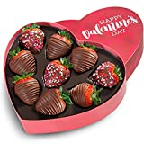9 Love Berries Valentine's Day Chocolate Covered Strawberries in a Heart Gift Box