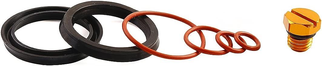 Bautopart Fuel Filter Seal Rebuild Kit and Bleeder Screw for 2001-2010 GM Duramax Fuel Filter Housing (Gold)-Aluminum