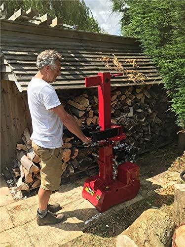 Petrol Log Splitter   9 Ton Vertical Logsplitter from Titan Pro