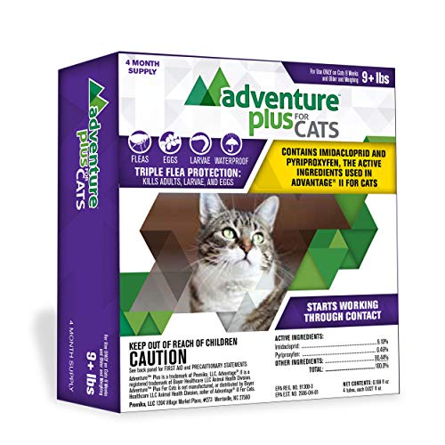 Adventure Plus Flea Prevention for Cats - Topical Flea Treatment for Cats