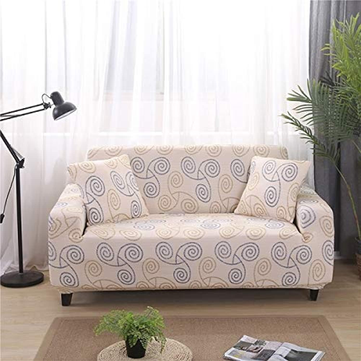PlenTree 1pcs Elastic Printed Sofa Tight Bag All-Inclusive Sofa Set Elastic Sofa Towels Single Two-Person Three-Seat Four-Seat  quweikongjian, 2 Seater