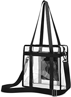 Clear Stadium Bag, Clear Tote Bag NFL Stadium Approved 12 x 12 x 6
