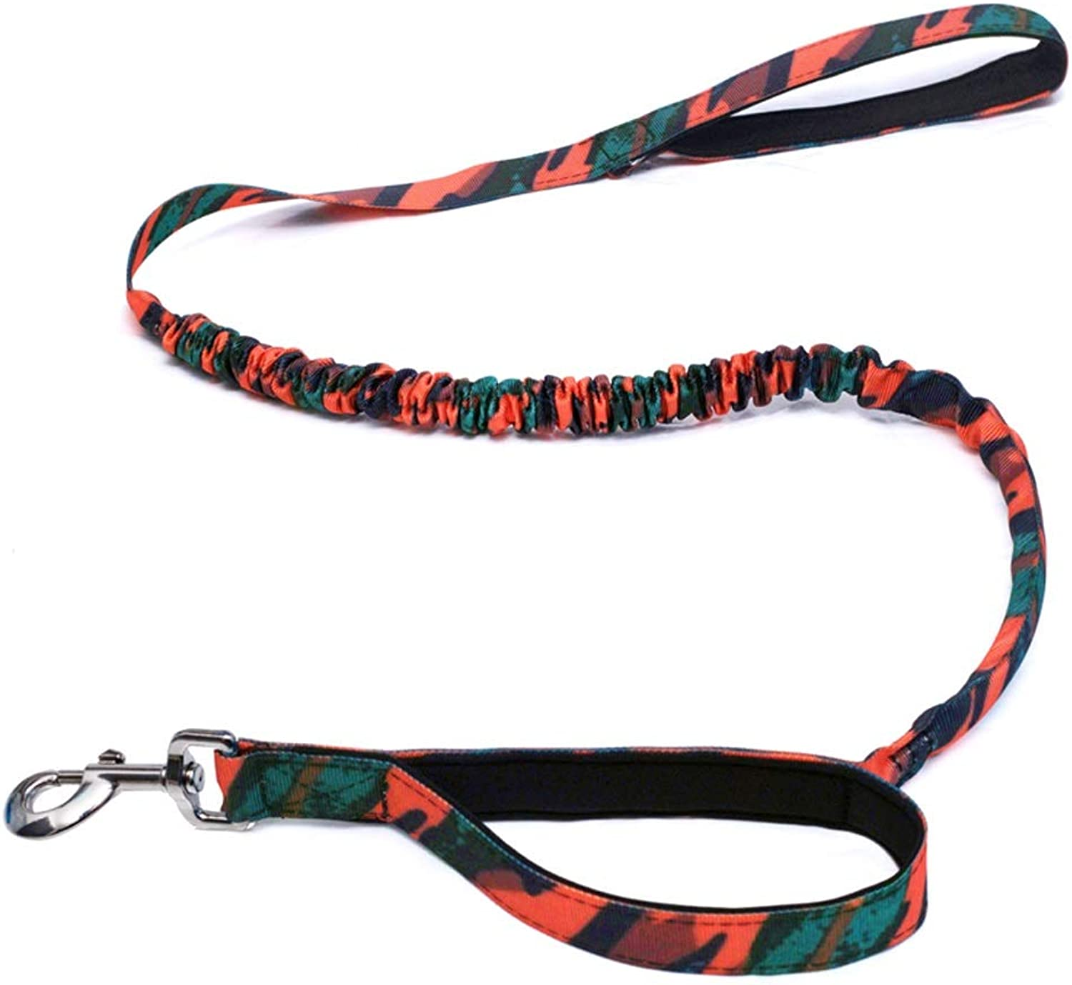 LZRZBH Pet Supplies Dog Leashes ExplosionProof Rushing Bold Dualuse Elastic Rope Large Dog Leash Dog Chain, Rope Length  120cm (color   orange)