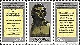 Prophila Collection DDR (RDA) wzd808 (completa.edición.) (3254-3255 cuando banda de tres) 1989 Schiller en Jena (sellos para los coleccionistas)