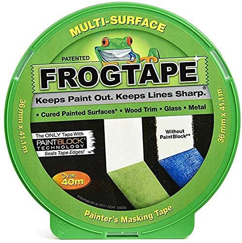 Frog Tape Malerkreppband für verschiedene Oberflächen, 36 mm x 41,1 m, 2 Stück