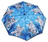 Schirm mit Katzenmotiv - Jeanskätzchen