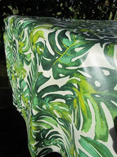 ¡Pago Poco Novida! Colección 2019-2020. Mantel de algodón plastificado con hojas verdes. Medidas: 140 x 230 cm. Fabricado en Italia. !
