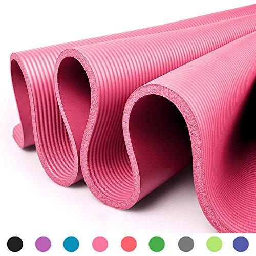 Glamexx24 XXL Fitnessmatte Yogamatte Pilatesmatte Gymnastikmatte EXTRA-dick und weich, ideal für Pilates, Gymnastik und Yoga Pink