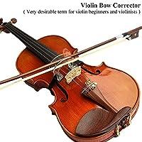 取り付けが簡単練習用バイオリンコリメータ、バイオリンボウアジャスター、ウェアラブルバイオリン定規、トレーニング用に調整可能ボウツール初心者向けバイオリンアクセサリー(1/2-4/4 for violin)