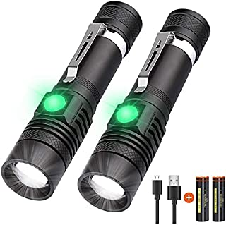 Rechargeable Flashlight, LED Tactical Flashlight, Karrong 1200 Lumens Super Bright Pocket-Sized T6 LED Torch with Clip, Wa...