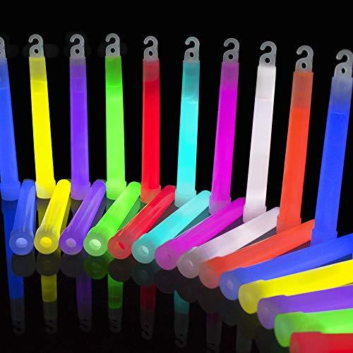 Glowhouse Premium Qualität Ultra Bright Jumbo Leuchtstäbe (Mischfarben) 25er Pack