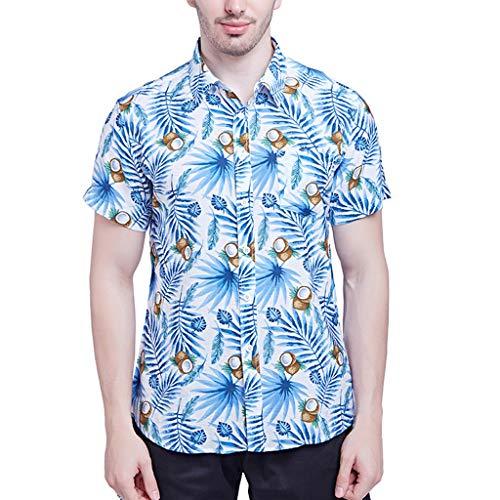 CICIYONER Hawaiihemd Herren polohemd,3D Printed Funky Hawaiihemd,Hawaiian Shirt Mens Short Sleeve Polo Hemd Ananas Shirts Hawaiian Style S-2XL