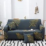 MKQB Funda de sofá geométrica Floral, Funda de sofá de Sala de Estar, Funda de sofá elástica elástica, Funda de sofá Modular de traspaso NO.4 3seat-L- (190-230cm