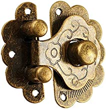 1pc Hasp Klink Green Bronze Geel for Option Furniture Jewelry Houten Box Lock Borst Case Box Decoratieve Fixing Grendel Sl...