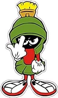 Marvin Martian W/Middle Finger Laptop Sticker Bumper Sticker Window Sticker