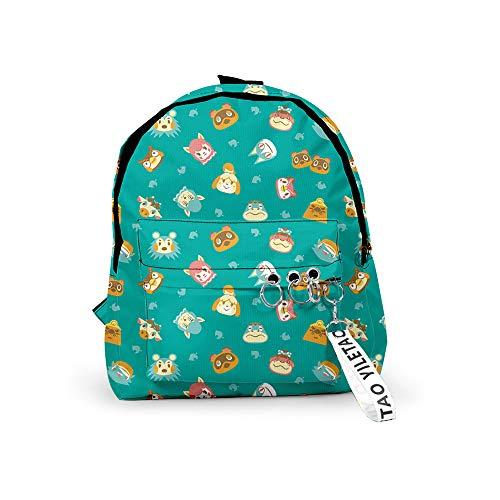 Animal Crossing School Bag Adolescents Sac à Dos Grande capacité pour Les Enfants Voyage et randonnée 3D Animal Crossing Impression Sac à Dos