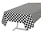 Pack of 3 Premium Plastic Checkered Flag Tablecloths Picnic Table Covers, Tablecovers Party Favor
