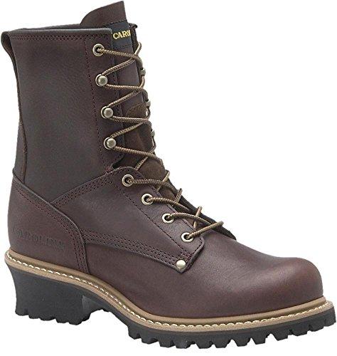 "Men's Carolina 8"" Steel Toe Loggers Briar, BRIAR, 10"