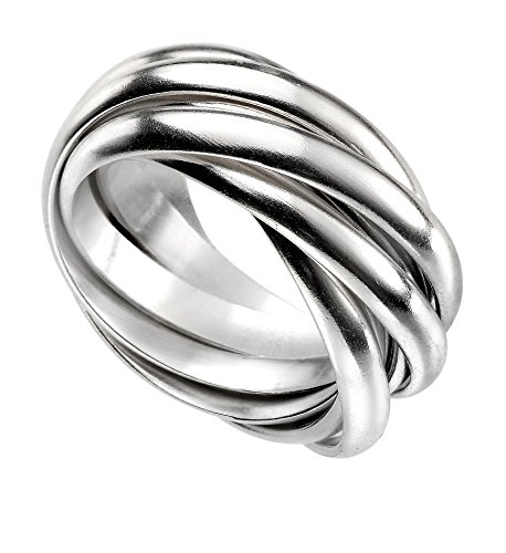Elements Silver Heavyweight Russian Wedding Band Ring, Silver, N