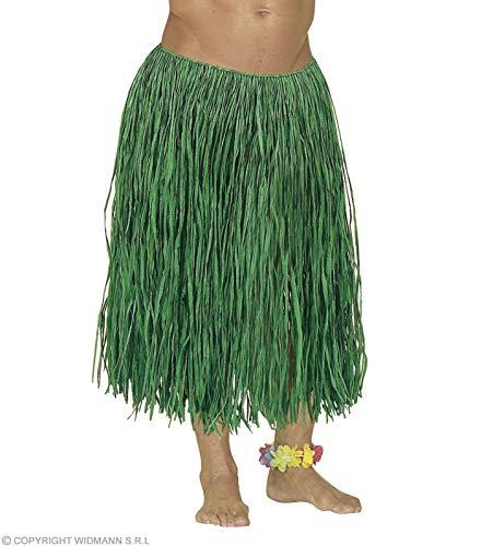 Widmann RAFFIA HAWAIIAN SKIRT GREEN COLOUR 78cm