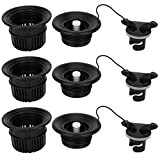 Jarchii 【2021 New Year 𝐏𝐫𝐨𝐦𝐨𝐭𝐢𝐨𝐧】 Inflatable Tent Air Valve, 38x60mm Safety Air Valve, Kayak Air Valve, Kayak Outdoor Use for Inflatable Boat/Tent Canoe Raft(Black)