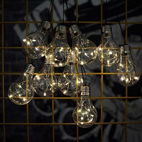 Z.L.FFLZ Luces Globe Cadena Luces solares, a Prueba de Agua de 14...