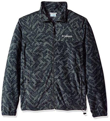 Columbia Men's Big and Tall Cascades Explorer Full Zip Fleece Jacket, Grill Galicut Grey, Medium