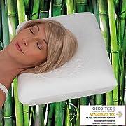 daydream Kopfkissen aus Memory Foam mit Bambus-Bezug - das ergonomische Bett- und Schlafkissen , 50 x 35 x 10 cm