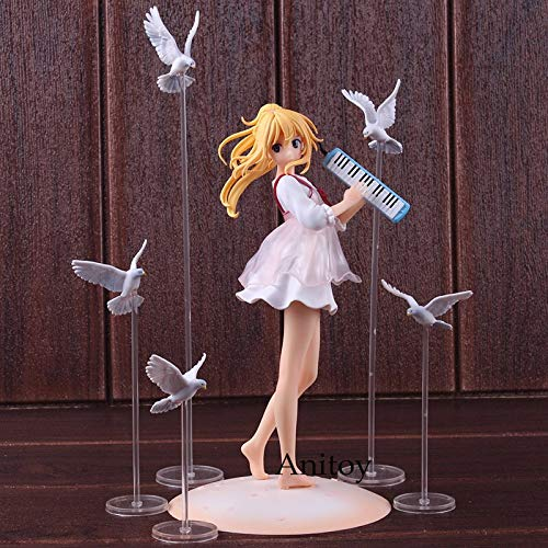 Romantic-Z Anime Your Lie in April Figuras Vestido Informal Miyazono Kaori Ver. Juguete de PVC de colección de Figuras de Juguete