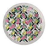 Paquete de 4 perillas para gabinete de cocina, perillas para cajones de tocador Yin yang vegano aguacate huevo se levantó Tiradores de puerta